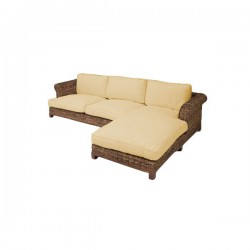 Chaiselongue rattan  Furniture for hire & events settings - Rattan Chaise Longue