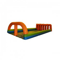 Inflatable race course bouncing castle
