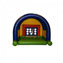 Goal wall bouncing castle