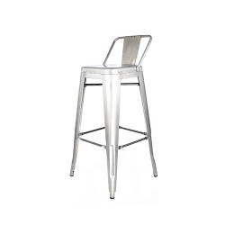 Indy stool with low backrest