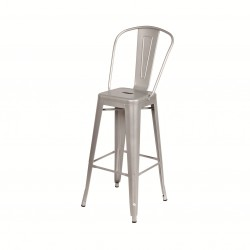 Indy stool with high backrest